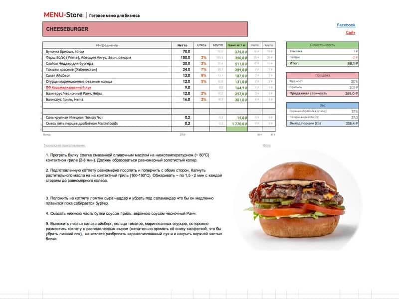 Технологические карты блюд - DIGITAL FOOD COMPANY